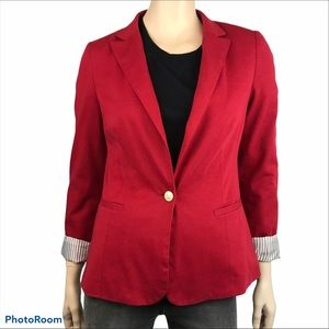 Kenneth Cole Select Red Single Button Front Blazer